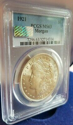 "1921 Morgan Silver Dollar Pcgs Ms63 ""littleton Select"""