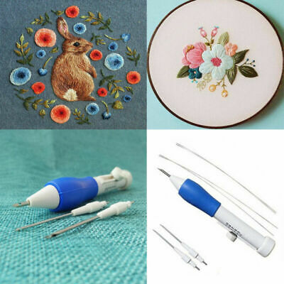 1 Set Magic Embroidery Pen Embroidery Needle Weaving Tool Fancy Kits