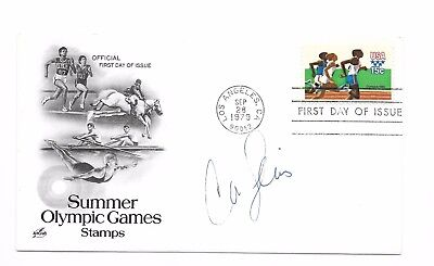 Carl Lewis ~ Olympic Champion ~ Hand Signed Autograph On First Day Cover