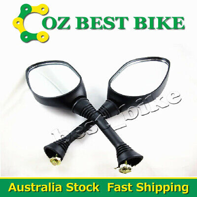 8mm Clockwise Threaded Universal Motorcycle Mirror ATV Moped Scooter Quad Buggy
