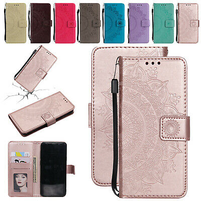 For Samsung Galaxy S10E S10 Plus Case Embossed Magnetic Leather Flip Stand Cover