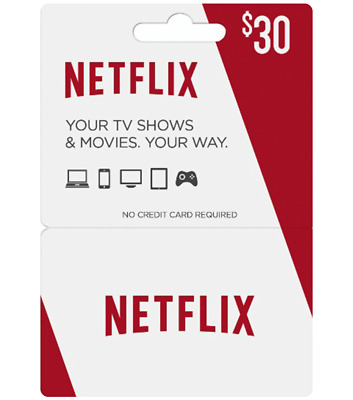 $30 Netflix Gift Code Cheap And Heavily Discounted [Instant Delivery]