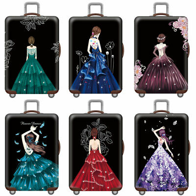 "18""-32""Cute Girls Travel Luggage Cover Dustproof Suitcase Protector Anti Scratch"
