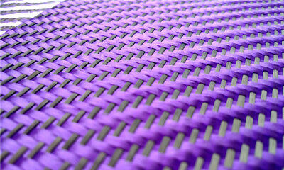 Purple with Black Aramid Carbon Fiber Blended Fabric Mixed Carbon Cloth 230gsm