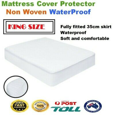 Luxury Bamboo Mattress Bed Matress Protector Waterproof KING Fully Fitted Cover