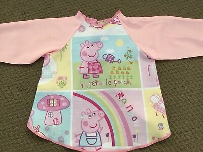 Peppa Pig Art Smock Age 2-4 Perfect For Home Or Kindy