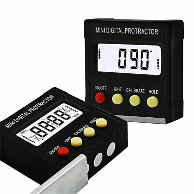 Mini LCD Digital Inclinometer Protractor Bevel Box Angle Gauge Magnet Base NL9