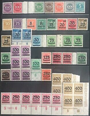 Germany 1923 Inflation issues MNH/MLH in Blocks & singles