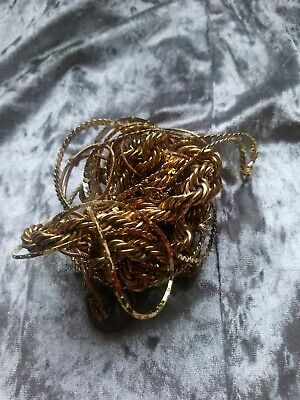 job lot of vintage /modern jewellery inc gold tone / gold plated items chav 80s