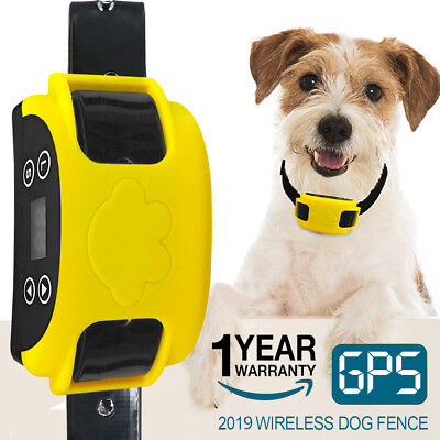 Wireless Electric Dog Fence GPS Containment System Transmitter Collar Waterproof
