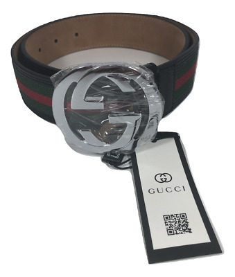 1ce762711cb NEW Men s Gucci Leather Web Belt with G Buckle