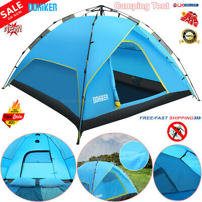 Automatic Hydraulic Pop Up 4-6 Persons Camping Tent Hiking Waterproof Breathable