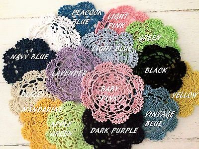 New Single Coloured 13-14 Cm   Crochet Lace Doilies