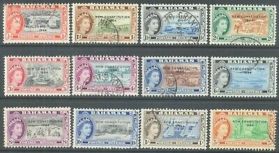 BAHAMAS 1964 QEII New Constitution Values to 5/- (12) Good/Fine Used