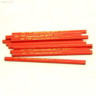 7CA5 1 X 176MM Carpentering Woodworking Red Core Wood Pencil With Scale Marker