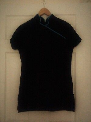 Beauty Tunic Black with Blue Trim Size 10