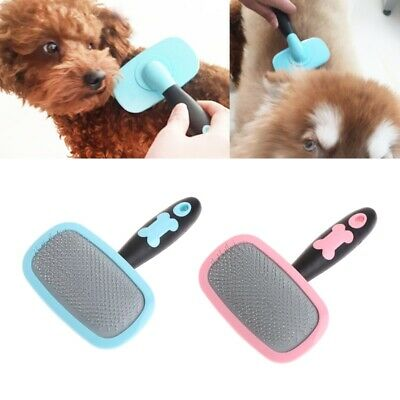 Handle Shedding Hair Brush Pin Fur Grooming Trimmer Comb Tool For Pet Cat Dog