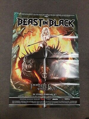 BEAST IN BLACK 'FROM HELL WITH LOVE' POSTER (Official Promo Poster) (New)