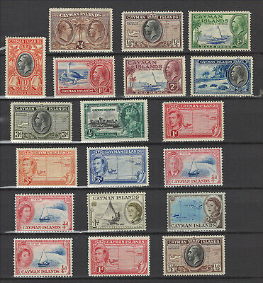 Cayman Islands - Lot of Various Mint Hinged - GV to EII - Check Scans!