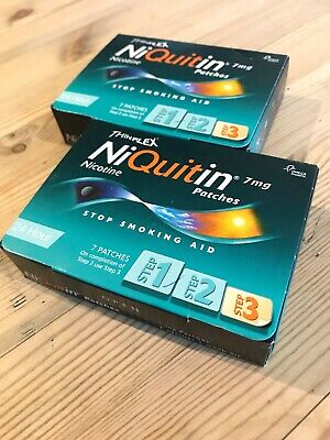 Niquitin 7mg patches - 2x Unopened Boxes, Best Before 05/2020 (14 Patches)