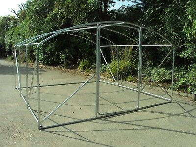 Frame Only 4m x 3.5m Poly Tunnel Polytunnel Pollytunnel Greenhouse Green House