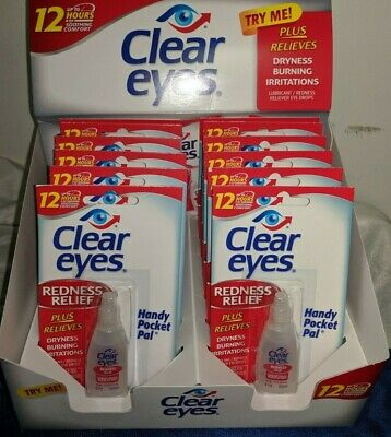 CLEAR EYES  DROPS 12 X 0.20 OZ.6 mL EXPIRES:10/2020 REDNESS RELIEF UP-TO 12 HRS