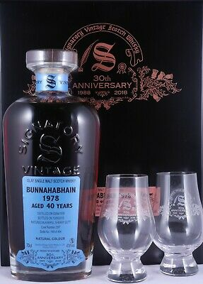 Bunnahabahain 1978 40 Years Sherry Butt Signatory 30th Anniversary Whisky 47,8%