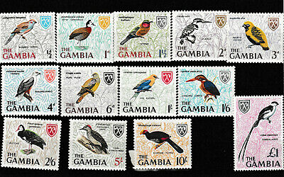 H8  Gambia -- Complete Set SC 215-227, MNH