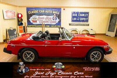 1975 MGB -- MG MGB Red with 55,278 Miles, for sale!