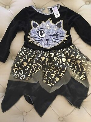 Baby Cutie Cat Costume Toddler Leopard Halloween Fancy Dress Outfit Kids Girls