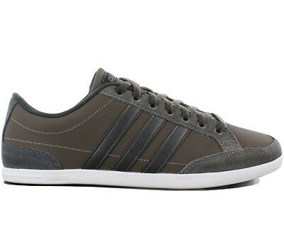 competitive price 5fc57 4f636 Adidas Caflaire Low Leather Baskets Hommes Fashion Chaussures Cuir Noir  Db0411