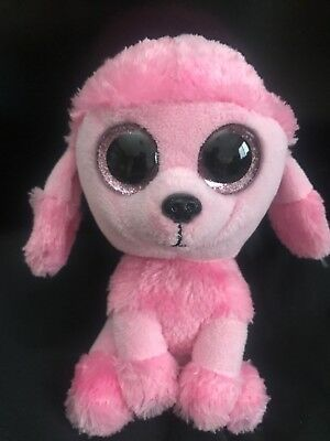 NT  TY BEANIE Boos ~ PRINCESS the Pink Poodle Dog (Glitter Eyes) 6 ... e870db24d8de