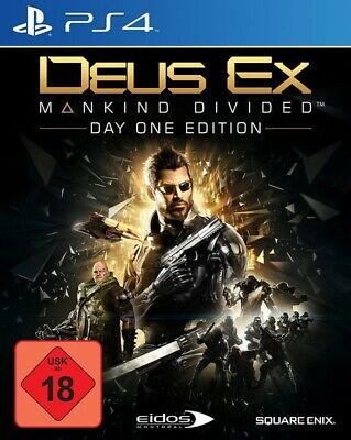 PS4  Playstation 4 Deus Ex: Mankind Divided Day One Edition EN GER boxed