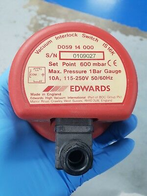 Edwards Vacuum Interlock Switch