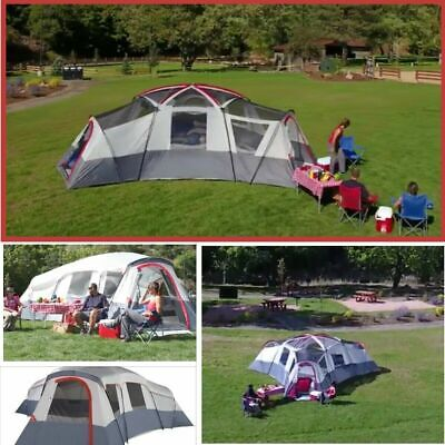 20 Person 4-Room Family Cabin Tent Camping Sleep Outdoor Travel House 4 Entrance