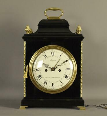 FINE VERGE STRIKING BRACKET CLOCK - Martin , London