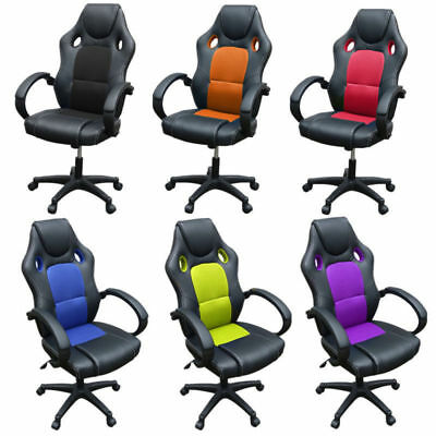 PU Leather Office Chairs Executive Sports Racing Gaming Chair Computer Armchair