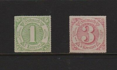 Germany Southern Distrtict Postage Stamps 1859, 1862