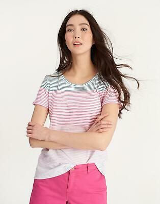 Joules Womens Nessa Jersey T shirt in Pink Ombre
