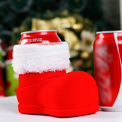 EE74 Christmas Wine Cola Bottle Boots Festival Candy Bag Ornament Decoration