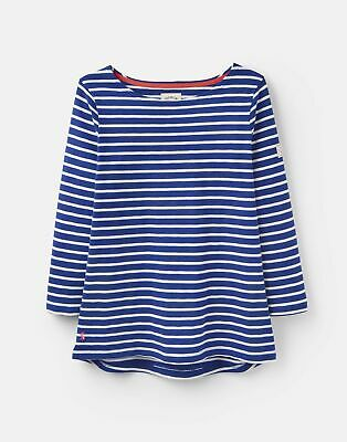 Joules 204534 3 4 Length Sleeve Jersey Striped Top in JET BLUE