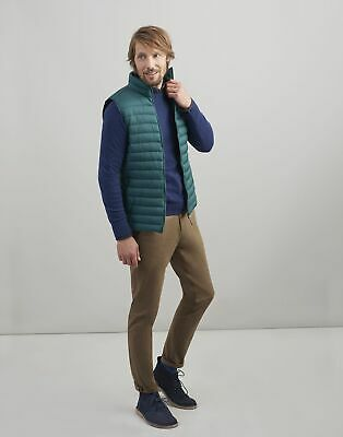 Joules Mens Go To Lightweight Quilted Gilet Jacket in PARSLEY