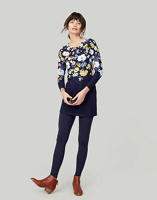 Joules Womens Quinn Tunic with Pockets in NAVY BOUQUET BORDER