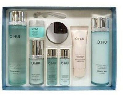 Korea cosmetic OHUI Miracle Aqua  8pcs Special Set anti aging Moisture skin care
