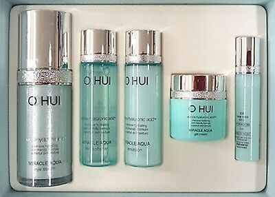Korea cosmetic OHUI Miracle Aqua Miracle Aqua Serum Limited 5pcs Special set