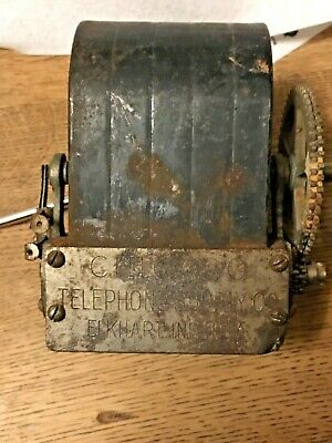 ANTIQUE CHICAGO TELEPHONE SUPPLY Wood RINGER BOX Vtg Wooden