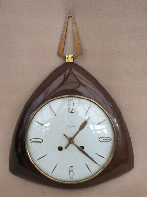 VINTAGE RETRO 50s/60s JUNGHANS SPRING DRIVEN WALL CLOCK FOR SPARES REPAIR