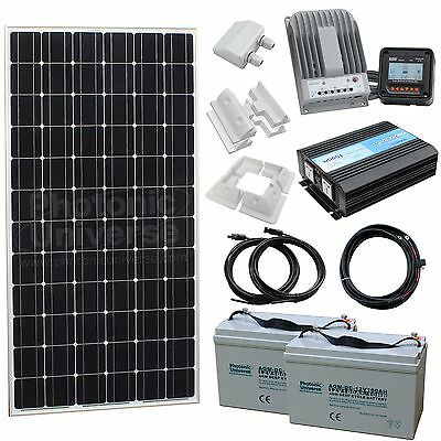 200W Off-Grid Household Solar Power System with Batteries 230V 50Hz mains output
