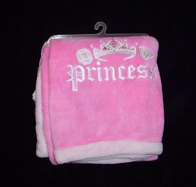 NEW Tiddliwinks Pink Princess Crown Tiara Baby Blanket Security Lovey 2447e08e1
