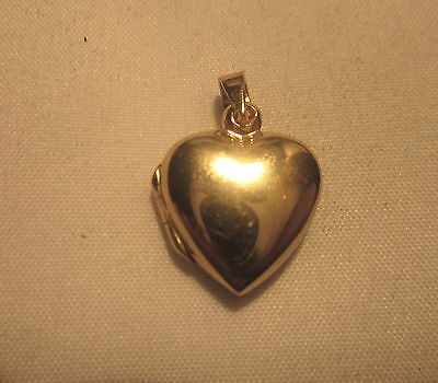 Gold Over Sterling Silver Heart Locket With A New Necklace